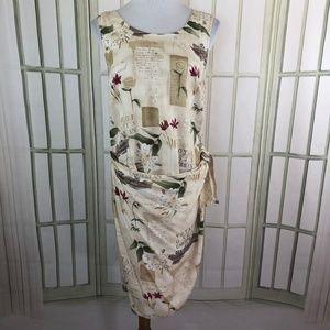 Caribbean Joe Faux Wrap Dress Sleeveless Tropical